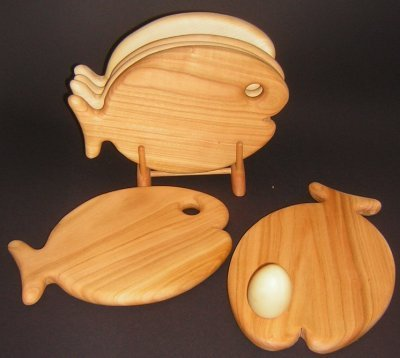 Hölzernes & anderes - Tierform-Frühstücksbrett Fisch